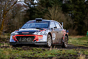 10th February 2019, Galway, Ireland; Galway International Rally; Aaron MacHale and Enda Sherry (Hyundai i20 R5) in action in their rather unique right hand drive Hyundai