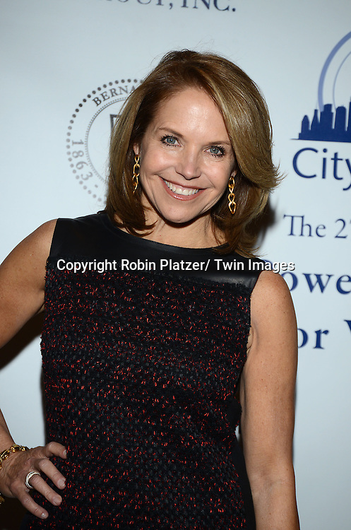 """Katie Couric attends the 27th Annual Citymeals-on-Wheels """" Power Lunch for Women"""" on November 22, 2013 at the Plaza Hotel in New York City."""