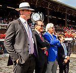 SARATOGA SPRINGS, NY - AUGUST 25: Connections of Abel Tasman, #1, await the results of an inqury in the Personal Ensign Stakes on Travers Stakes Day at Saratoga Race Course on August 25, 2018 in Saratoga Springs, New York. (Photo by Sue Kawczynski/Eclipse Sportswire/Getty Images)