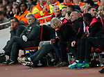 Arsenal's Arsene Wenger looks on dejected during the Europa League Semi Final 1st Leg, match at the Emirates Stadium, London. Picture date: 26th April 2018. Picture credit should read: David Klein/Sportimage
