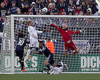 New England Revolution goalkeeper Matt Reis (1). In a Major League Soccer (MLS) match, the New England Revolution defeated DC United, 2-1, at Gillette Stadium on March 26, 2011.