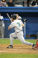 September 5, 2009:  Austin Markel (31) of the Jamestown Jammers at bat during a game at Dwyer Stadium in Batavia, NY.  The Jammers are the NY-Penn League Short-Season Class-A affiliate of the Florida Marlins.  Photo By Mike Janes/Four Seam Images
