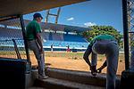 Havana, Cuba:<br /> Cuban baseball practice viewed from dugout