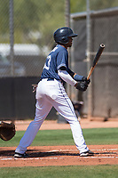 San Diego Padres center fielder Jeisson Rosario (53) at bat during an Extended Spring Training game against the Colorado Rockies at Peoria Sports Complex on March 30, 2018 in Peoria, Arizona. (Zachary Lucy/Four Seam Images)