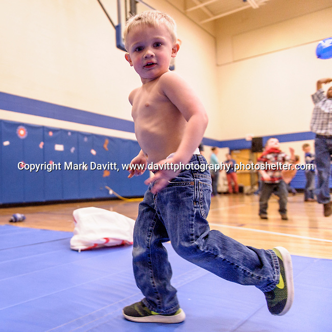 Bondurant hosted a Mother and Son Hoedown March 25 at Anderson Elementary. Everyone had a rootin' tooting' time with lots of snacks, games, crafts, music and dancing too. If you host a dance for preschool to fifth grade boys eventually one of the boys will ditch the shirt. Kolton Hagan got rid of his shirt as he heated up the dance floor.