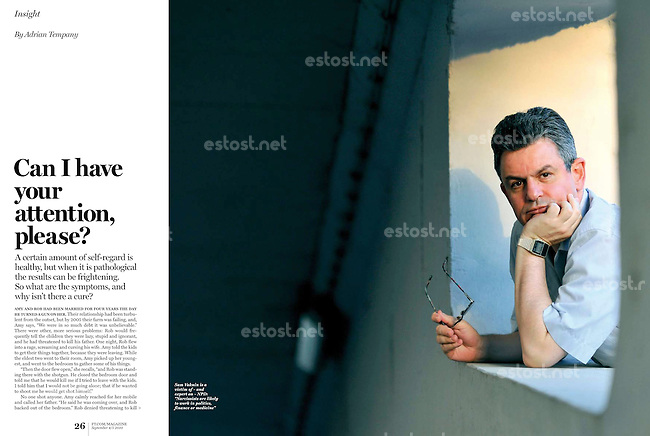 FT Magazine (the British economic daily Financial Times' weekly supplement) on the Macedonian author and narcism expert Sam Vaknin, Skopje, September 2010.<br /> Photographer:  Tomislav Georgiev