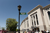 New York, USA. 05th May 2014. Street Outside Yankee Stadium Renamed In Honor Of Mariano Rivera. Kena Betancur/VIEWpress