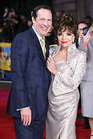"Dame Joan Collins and husband Percy<br /> arrives for the premiere of ""The Time of Their Lives"" at the Curzon Mayfair, London.<br /> <br /> <br /> ©Ash Knotek  D3239  08/03/2017"