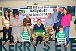 Ballyduff NS and GAA club launch their Night at the Dog fundraiser at the Kingdom Greyhound Stadium in November at the Ballyduff Gaa club on Monday. Pictured Aine Corridan, Martina Rochford, Marie Lucid, Pat Walsh, Gabriel Brown, Paddy Ferris, Nicky Leen, Chairperson, Liam Ross, Secretary, Teddy O'Sullivan, President of Munster Council, Caroline O'Sullivan, Board of Management, Luke Rochford, Jake Rochford