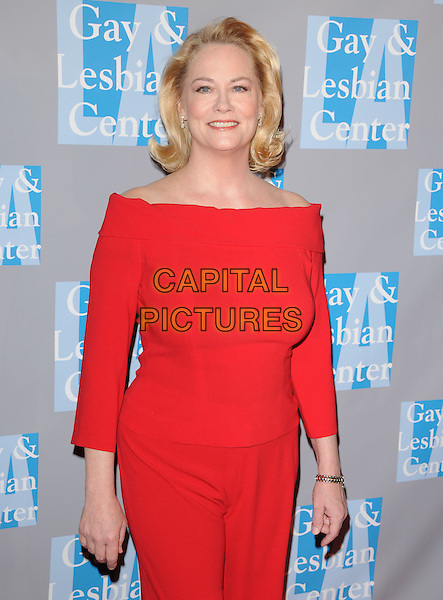 """CYBILL SHEPHERD .at """"An Evening With Women: Celebrating Art, Music & Equality"""" held at The Beverly Hilton Hotel in Beverly Hills, California, USA, April 24th 2009.                                                                     .half length red boat neck top matching trousers .CAP/DVS.©Debbie VanStory/RockinExposures/Capital Pictures"""