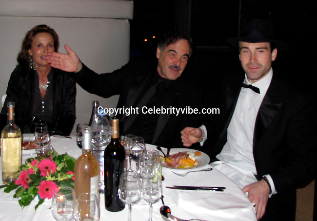 **EXCLUSIVE**.Oliver Stone and his son Sean Stone..Wall Street: Money Never Sleeps Premiere Post Party - Inside..Cannes Film Festival..Villa in La Californie..Cannes, France..Friday, May 14, 2010..Photo By CelebrityVibe.com.To license this image please call (212) 410 5354; or Email: CelebrityVibe@gmail.com ; .website: www.CelebrityVibe.com.