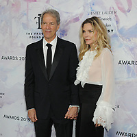 05 June 2019 - New York, New York - David E. Kelley and Michelle Pfeiffer. 2019 Fragrance Foundation Awards held at the David H. Koch Theater at Lincoln Center. Photo Credit: LJ Fotos/AdMedia