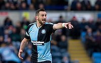 Paul Hayes of Wycombe Wanderers gives instructions during the Sky Bet League 2 match between Wycombe Wanderers and Luton Town at Adams Park, High Wycombe, England on 6 February 2016. Photo by Andy Rowland.