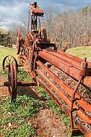 Antique hay baler farm at Biltmore Estate