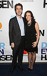 Jason Robert Brown and Georgia Stitt attends the Broadway Opening Night Performance of 'Dear Evan Hansen'  at The Music Box Theatre on December 1, 2016 in New York City.
