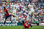 Pepe (r) of Real Madrid in action during the La Liga match between Real Madrid and Osasuna at the Santiago Bernabeu Stadium on 10 September 2016 in Madrid, Spain. Photo by Diego Gonzalez Souto / Power Sport Images