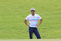 Hideto Tanihara (JPN) at the 18th green during Saturday's Round 3 of the 2017 PGA Championship held at Quail Hollow Golf Club, Charlotte, North Carolina, USA. 12th August 2017.<br /> Picture: Eoin Clarke | Golffile<br /> <br /> <br /> All photos usage must carry mandatory copyright credit (&copy; Golffile | Eoin Clarke)