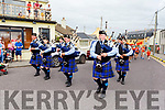 Members of the Killorglin Pipe Band lead the way at the Ballyheigue Summer Fest Parade on Sunday