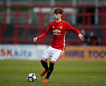 James Garner of Manchester Utd during the U18 Premier League Merit Group A match at The J Davidson Stadium, Altrincham. Date 12th May 2017. Picture credit should read: Simon Bellis/Sportimage