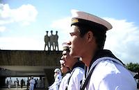 RIO DE JANEIRO, RJ, 08 DE MAIO DE 2013 - DIA DA VITORIA - Soldados durante preparacao para o Dia da Vitoria, no Aterro do Flamengo, na zona sul da cidade do Rio de Janeiro, nesta quarta-feira, 08. FOTO. INGRID CRISTINA / BRAZIL PHOTO PRESS.