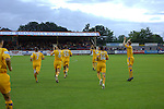 Aldershot Town 0 Torquay United 3, 15/08/2007. Recreation Ground, Football Conference.Torquay's first game in the Blue Square Premier. A 330 mile round trip to Aldershot Town's Recreation Ground. The Torquay players greet their fans from the South West.