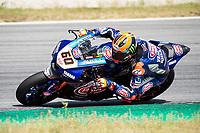 8th July 2020; Circuit de Barcelona Catalunya, Barcelona, Spain; FIM Superbike World Championship tests;  Day One; Michael Van Der Mark of the Pata Yamaha WORLDSBK Team rides the Yamaha YZF R1