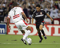 C.J. Brown, left, Christian Gomez, right, Chicago vs DC United at RFK Stadium in Washington, DC.