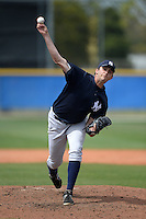 Pitcher David Palladino (78) of the New York Yankees organization during a minor league spring training game against the Toronto Blue Jays on March 16, 2014 at the Englebert Minor League Complex in Dunedin, Florida.  (Mike Janes/Four Seam Images)