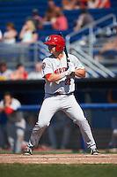 Auburn Doubledays pinch hitter David Kerian (21) at bat during a game against the Batavia Muckdogs on September 5, 2016 at Dwyer Stadium in Batavia, New York.  Batavia defeated Auburn 4-3. (Mike Janes/Four Seam Images)