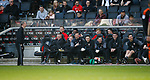 Sheffield Utd bench enjoy the moment during the English League One match at  Stadium MK, Milton Keynes. Picture date: April 22nd 2017. Pic credit should read: Simon Bellis/Sportimage
