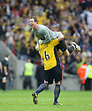 Ryan Clarke and Mark Creighton of Oxford United celebrate victory after the Blue Square Premier play-off final between Oxford United and York City at Wembley Stadium, London on 16th May,2010.© Kevin Coleman 2010