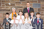 Castledrum NS pupils who received their First Holy Communion in Keel on Saturday morning front row l-r: Eden Murphy, Carla Evans, Shauna O'Brien, Sophie O'Connor, Gavin Sheehan and Marcus Lavery with their teacher PJ Ryan and Principal Marian Prendergast..