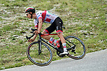 Italian Champion Davide Formolo (ITA) UAE Team Emirates attacks out of the breakaway as he descends Col de la Madeleine during Stage 3 of Criterium du Dauphine 2020, running 157km from Corenc to Saint-Martin-de-Belleville, France. 14th August 2020.<br /> Picture: ASO/Alex Broadway | Cyclefile<br /> All photos usage must carry mandatory copyright credit (© Cyclefile | ASO/Alex Broadway)