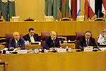 Permanent representatives of the Arab League attend a meeting to discuss the Syrian crisis at League of Arab States headquarter, in Cairo, Egypt, on July 26, 2017. Photo by Stranger