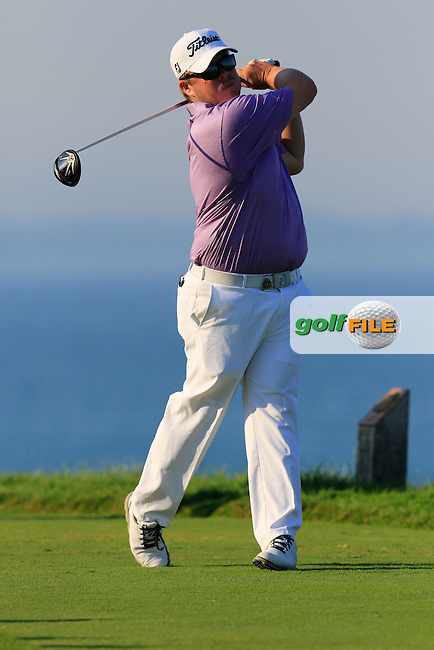 George Coetzee (RSA) tees off the 16th tee during Saturday's Round 3 of the 97th US PGA Championship 2015 held at Whistling Straits, Mosel, Kohler, Wisconsin, United States of America. 15/08/2015.<br /> Picture Eoin Clarke, www.golffile.ie