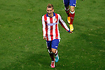 Atletico de Madrid´s Griezmann celebrates a goal during Champions League soccer match between Atletico de Madrid and Malmo at Vicente Calderon stadium in Madrid, Spain. October 22, 2014. (ALTERPHOTOS/Victor Blanco)