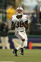 11 November 2006: Chris Hobbs during Stanford's 20-3 win over the Washington Huskies in Seattle, WA.