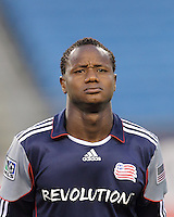 New England Revolution midfielder Joseph Niouky (23). The New England Revolution defeated the New York Red Bulls, 3-2, at Gillette Stadium on May 29, 2010.