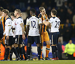 Hull's Michael Dawson shakes hands with his former teamates during the Premier League match at White Hart Lane Stadium, London. Picture date December 14th, 2016 Pic David Klein/Sportimage