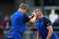 Sam Nixon and Tom Ellis of Bath Rugby. Pre-season friendly match, between Edinburgh Rugby and Bath Rugby on August 17, 2018 at Meggetland Sports Complex in Edinburgh, Scotland. Photo by: Patrick Khachfe / Onside Images