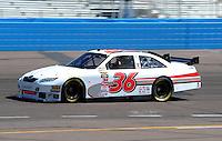 Apr 17, 2009; Avondale, AZ, USA; NASCAR Sprint Cup Series driver Scott Riggs during practice for the Subway Fresh Fit 500 at Phoenix International Raceway. Mandatory Credit: Mark J. Rebilas-