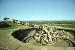 German second world war gun emplacement Pleinmont, Torteval, Guernsey, Channel Islands, UK