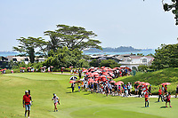 SINGAPORE - MARCH 03: The 18th during the final pairing, final round of the HSBC Women's World Championship 2019 at Sentosa Golf Club - Tanjong Course, Singapore on March 03, 2019.<br /> .<br /> .<br /> .<br /> (Photo by: Naratip Golf Srisupab/SEALs Sports Images)<br /> .<br /> Any image use must include a mandatory credit line adjacent to the content which should read: Naratip Golf Srisupab/SEALs Sports Images