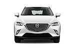 Car photography straight front view of a 2015 Mazda CX-3 Pure Edition 5 Door Suv Front View