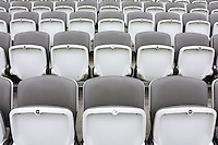 General view of the empty seats in the grandstand ahead of Middlesex CCC vs Yorkshire CCC, Specsavers County Championship Division 1 Cricket at Lord's Cricket Ground on 20th September 2016