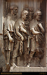 Arch of Septimius Severus 203 AD Detail Pedestal Reliefs Capitoline Side Forum Romanum Rome