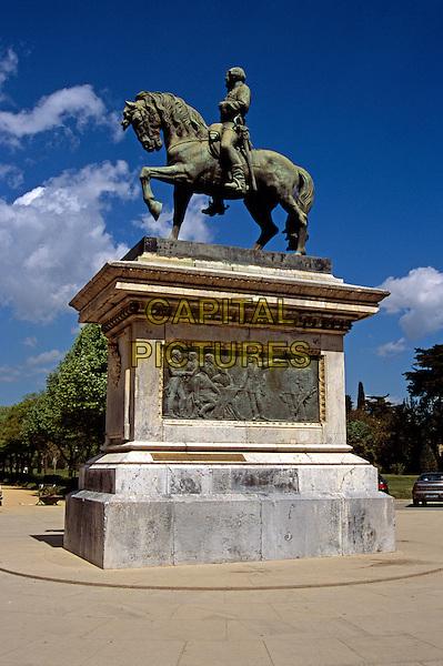 Barcelona a Prim statue, Parc de la Ciutadella, Barcelona, Spain.