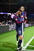 Celebration Esultanza de KURZAWA Layvin (PSG) apres son but<br /> CAVANI Edinson (PSG) <br /> Celebration Esultanza des joueurs du PSG<br /> Parigi 31-10-2017 <br /> Paris Saint Germain - Anderlecht Champions League 2017/2018<br /> Foto Panoramic / Insidefoto