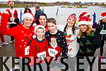 Sabrina Kirwin, Tristian Kirwin, Sonya O'Brien, Patrick O'Brien Helen O'Shea and Kay Griffin, pictured at the Santa 5k run on Sunday last in aid of the Ronald McDonald House, Crumlin.