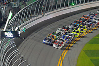 18-19 February, 2016, Daytona Beach, Florida USA<br /> Timothy Peters leads the field back to the green flag following a caution period.<br /> ©2016, F. Peirce Williams